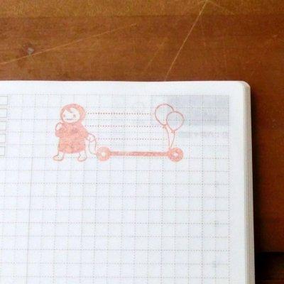 画像3: 書き込めるスタンプ「ふうせんとポンチャ」