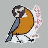 【野鳥生活】防水UVステッカー「あそぶ?」送料180円