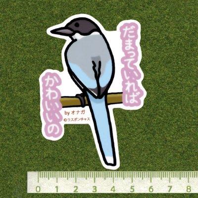 画像2: 【野鳥生活】防水UVステッカー「だまっていれば可愛いの」送料180円