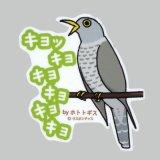 【野鳥生活】防水UVステッカー「キョッキョキョキョキョキョ」送料180円