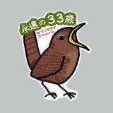 【野鳥生活】防水UVステッカー「永遠の33歳」送料180円