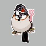 【野鳥生活】防水UVステッカー「ぽっ……」送料180円