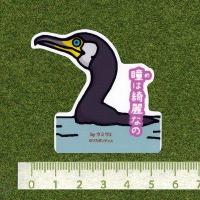 画像2: 【野鳥生活】防水UVステッカー「瞳(め)は綺麗なの」送料180円
