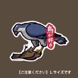 【野鳥生活】防水UVステッカー・Lサイズ「オオタカ01」送料180円