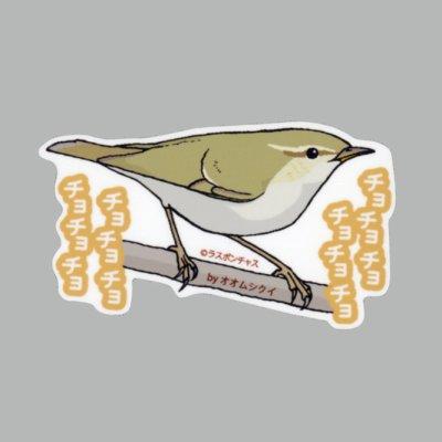 画像1: 【野鳥生活】防水UVステッカー「チョチョチョ、チョチョチョ」送料180円