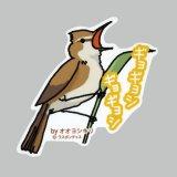 【野鳥生活】防水UVステッカー「ギョギョシ ギョギョシ」送料180円