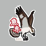 【野鳥生活】防水UVステッカー「魚専」送料180円