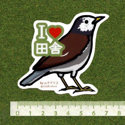 画像2: 【野鳥生活】防水UVステッカー「I♥田舎」送料180円