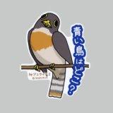 【野鳥生活】防水UVステッカー「青い鳥はどこ?」送料180円