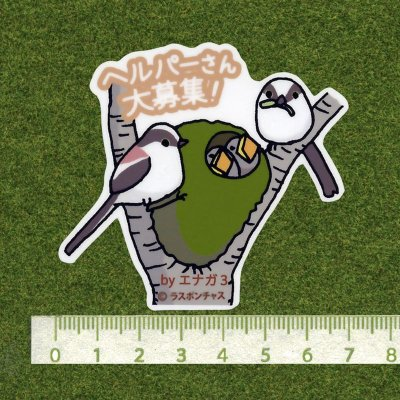 画像2: 【野鳥生活】防水UVステッカー「ヘルパーさん大募集!」送料180円